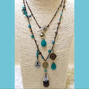 EUC SILPADA Blue Smoky Quartz 925 Necklace N2340